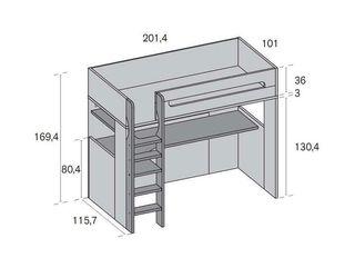 Cama litera escritorio