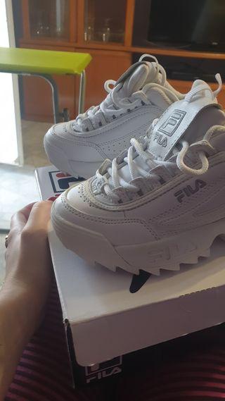 zapatillas niña fila