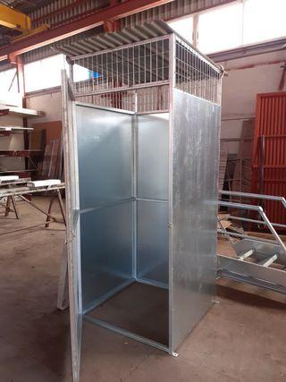 caseta de chapa galvanizada