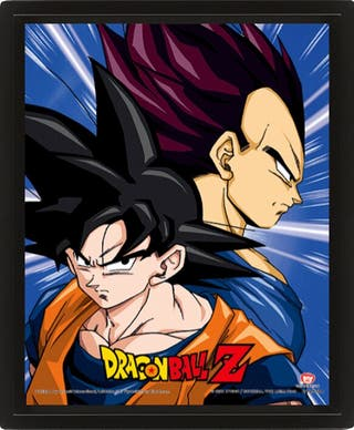POSTER 3D PROTECTORS AND DESTROYERS DRAGON BALL Z