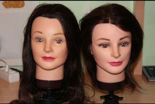 2 cabezas (maniquí práctica de peluquería)