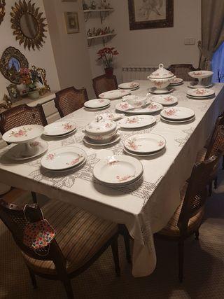 vajilla porcelana francesa Luneville