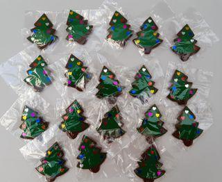 18 Broches fieltro Árbol de Navidad