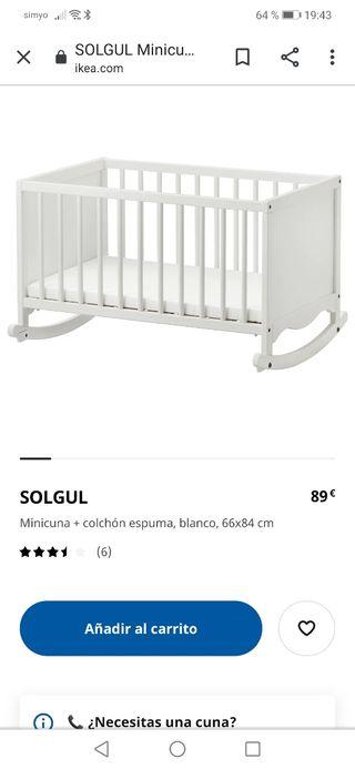 Minicuna Ikea SOLGUL