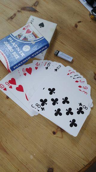 Baraja de poker cartas gigantes