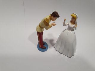 Rarisima Pareja Cenicienta Boda y Principe Disney
