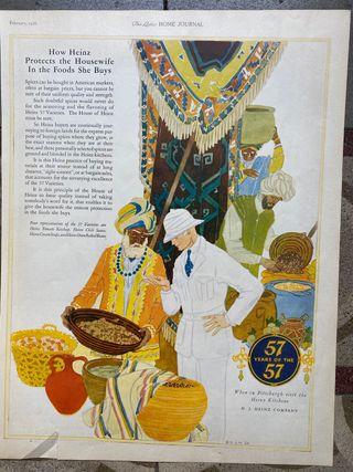 Láminas publicitarias americanas originales 1926