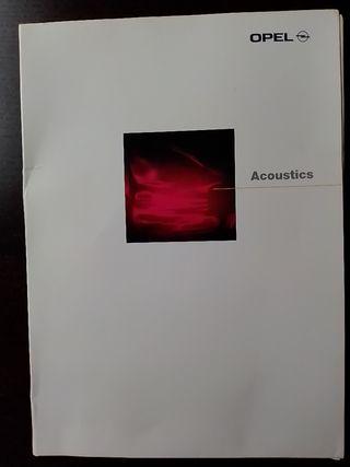 Opel acoustics dosier de prensa 1997