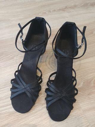 zapatos baile latino negro talla 40