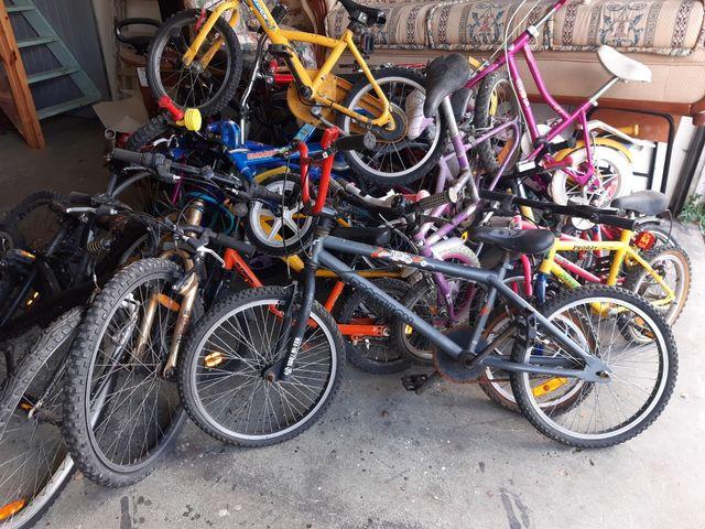 lote de bicicletas a 5 € UNIDAD