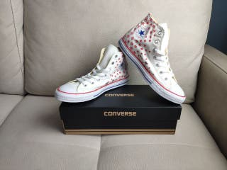 Converse Chuck Taylor All Star Hi White/Casion-Blu