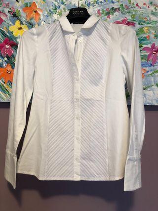 Camisa blanca de Roberto Verino talla L entallada