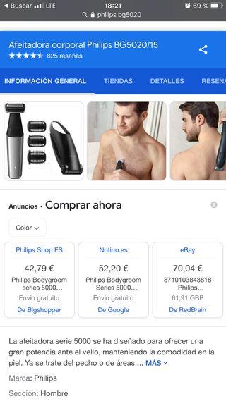 Philips Bodygroom Afeitadora corporal