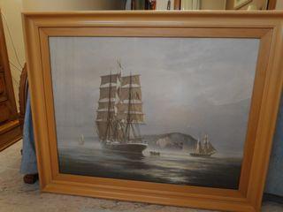 Cuadro lamina de barco velero