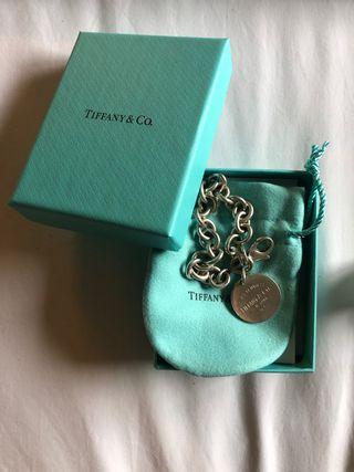 Pulsera original de Tiffany de plata