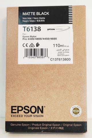 Epson T6138 Cartucho De Tinta Original Negro Mate