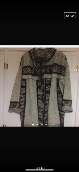 Abrigo lana etnico