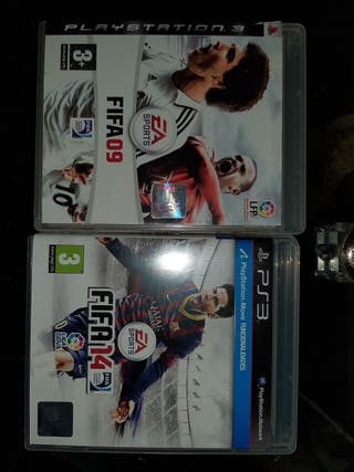 fifa 09 y 14 ps3 completos