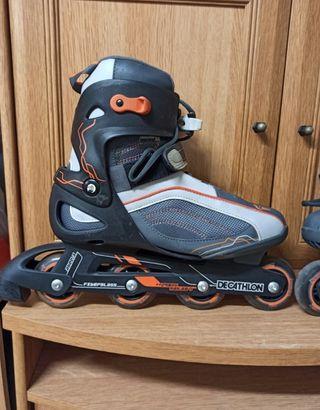patines en linea Decathlon talle 43