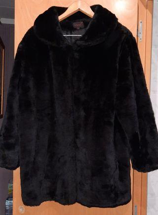 abrigo mujer negro pelo
