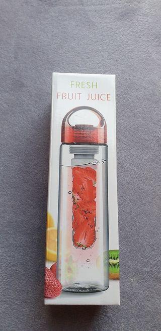 Botella Plástico Deporte Filtro Frutas