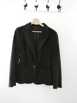 Americana lana marrón talla 38 Purificación García