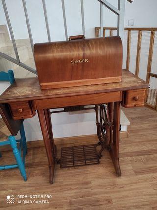 máquina singer antigua con número de chasis