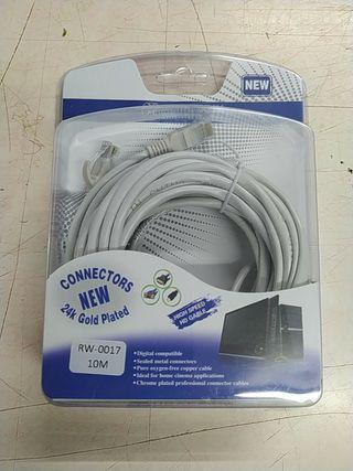 Cable Redes Ethernet 10m con RJ45 CAT5 UTP. PRECIO