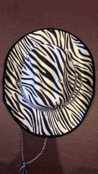 Sombrero Cowboy, estampado zebra
