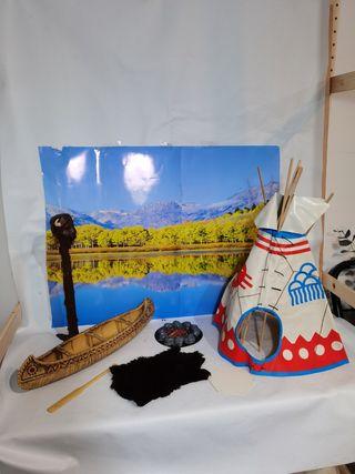 Tienda india y canoa india Big Jim