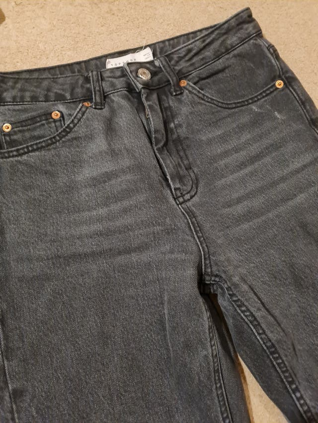 Topshop black straight jeans W28 L32