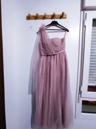 Vestido largo de fiesta, boda.
