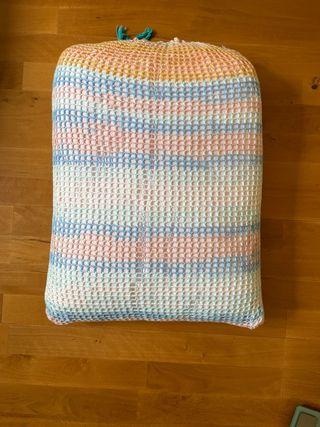 Saco almohada de croché/crochet