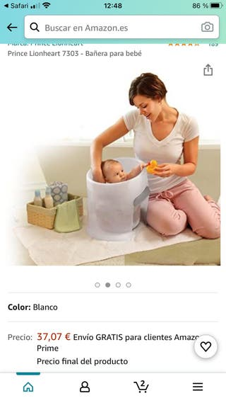Cubo Bañera anticólicos bebe Washpod