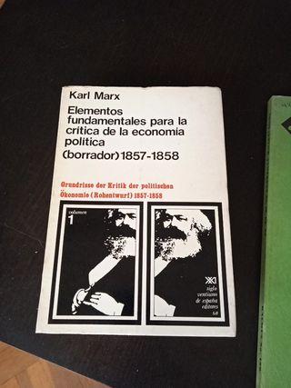 Karl Marx Grundisse Elementos fundamental
