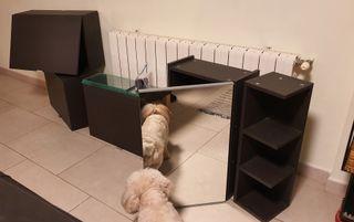 muebles pared baño