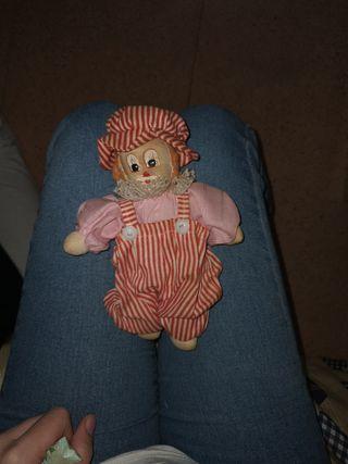 muñeco de payaso antiguo