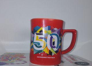 Taza roja 50 aniversario Nescafé