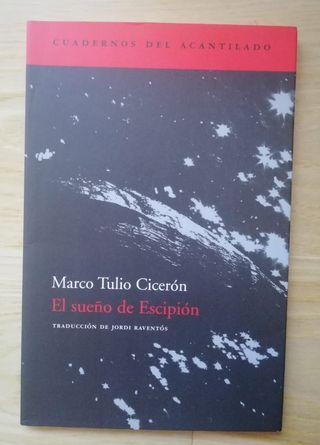 Libro. El sueño de Escipion. Marco T Ciceron