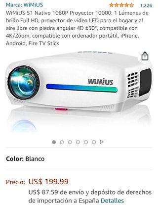 Proyector 1080P S1 WIMIUS
