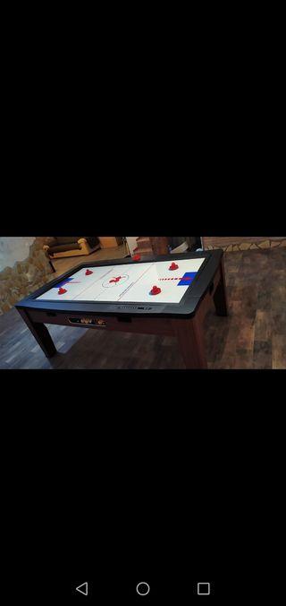 mesa de billar y air hockey