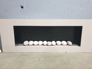 chimenea bioetanol con 10 piedras