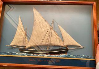 Cuadro maqueta barco velero