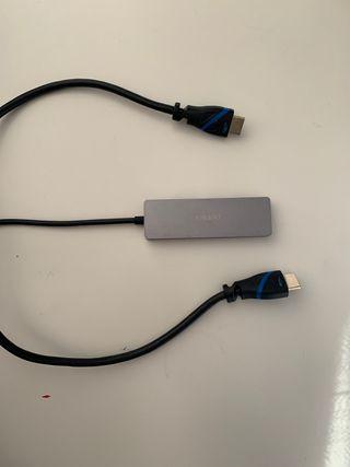 HDMI + Apple adaptador