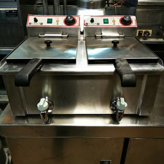 freidora industrial 9 + 9