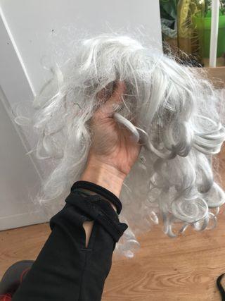 Peluca pelo blanco largo