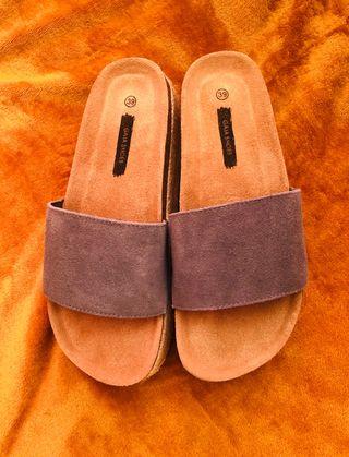 Sandalias de suela ancha de esparto y goma nuevas