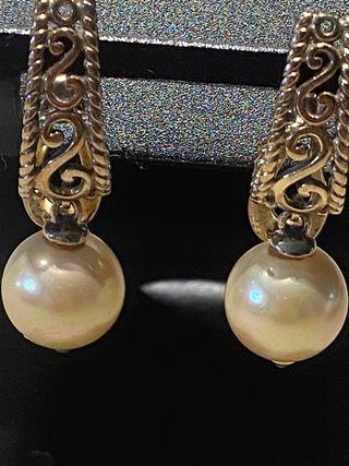Pendientes de plata con perlas de MAJORICA
