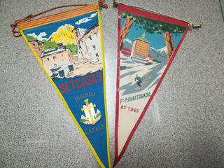 Banderines antiguos '60. Pirineos y Navacerrada.