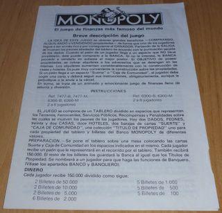 Instrucciones Monopoly